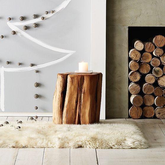 Monkeysalwayslook Stumped - West elm wood stump side table